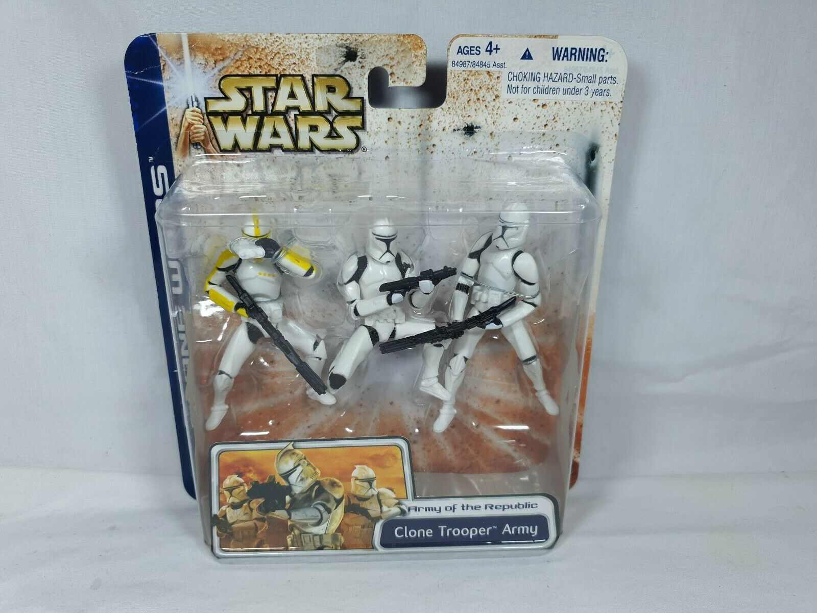 estrella guerras Clone guerras Clone Trooper Army 3Pack cifras Hasbro 2003 Aus Seller