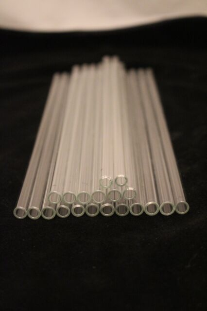 GLASS TUBING 20 Pieces BOROSILICATE PYREX TUBES 8mm x1.6mmx150mm - IWAKI  Japan