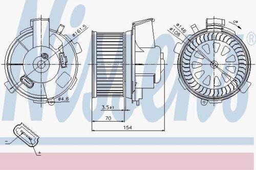 Nissens 87021 Motor del Ventilador Ajuste Peugeot 206 98