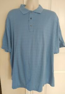 Concept-by-Clairborne-Men-039-s-Blue-Polo-Shirt-Short-Sleeves-Size-2XL