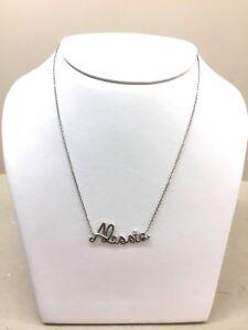 comprare popolare 59a11 7d978 Dettagli su Collana NOME Govoni Goielli Cherì collection Oro 18 kt BIANCO  con Diamante Nomi
