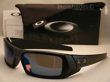 Oakley GasCan Matte Black w Ice Iridium Polar Lens NEW Sunglasses (26-244)