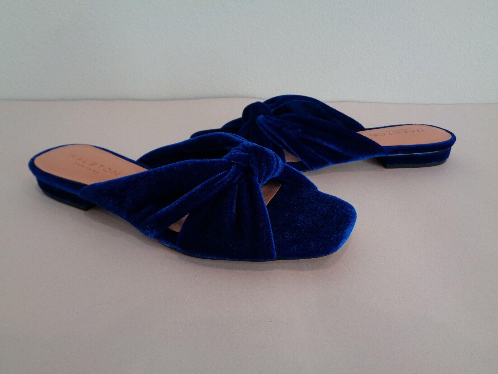 HALSTON Heritage Taille 6 M Ginny indigo en en en velours Slides Sandales Pour Femme Chaussures c29c9c