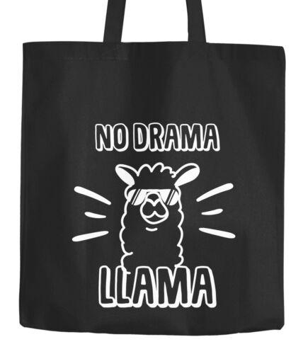 Jutebeutel No drama Llama Lama Spruch Sprüche Quote Baumwolltasche Stoffbeutel