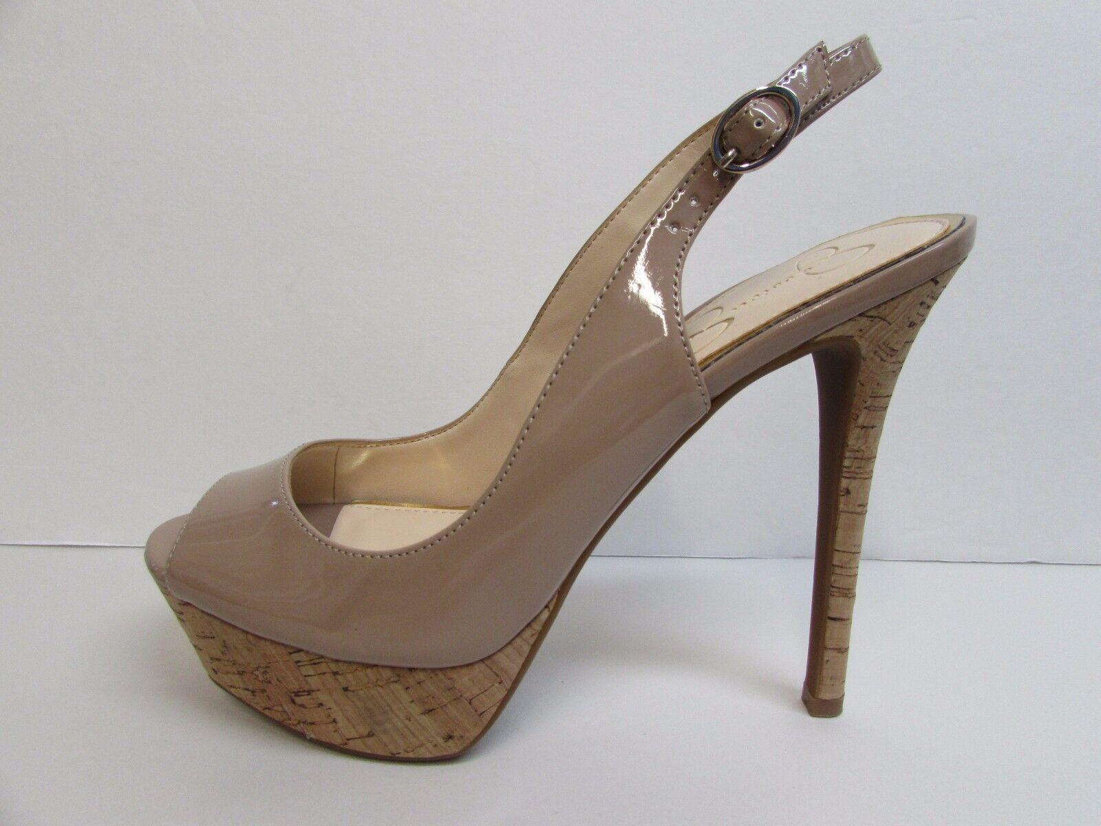 Jessica Simpson Simpson Simpson Talla 10 Biege Nuevos Mujer Zapatos Plataforma Tacones  de moda