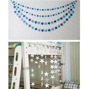 Christmas-Star-Garland-Bunting-4M-Shimmer-Home-Wedding-Party-Hanging-Decor-IY