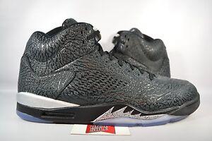 9f34fe0d028596 NEW Nike Air Jordan V 5 3LAB5 NIKELAB BLACK METALLIC SILVER 599581 ...