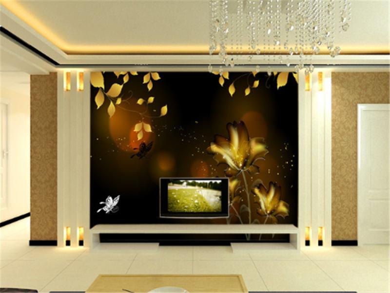 3D Golden Leaves 833 Wallpaper Mural Paper Wall Print Wallpaper Murals UK Carly