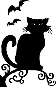 Halloween decoration cat decal sticker window wall laptop door room