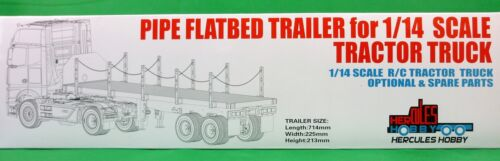 Pipe Flatbed Trailer 1:14 RC Tractor Trucks /& Prime Movers suit Tamiya Hercules