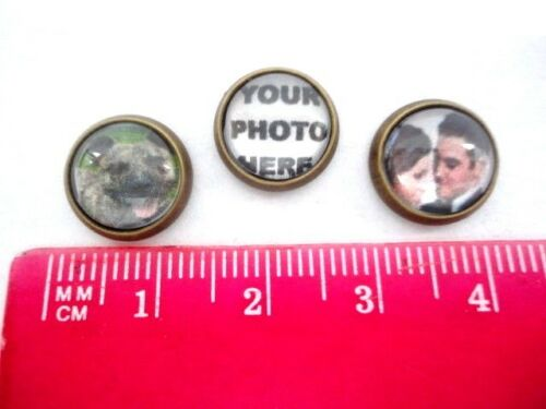 PERSONALISED PHOTO FLOATING CHARM FOR LIVING MEMORY LOCKET 2 SIZES 10mm or 12mm