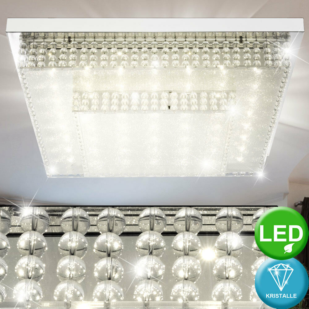 LED 24 Watt Watt Watt Decken Leuchte Gästezimmer Kristall Effekt Lampe 4000 Big Light def5bc