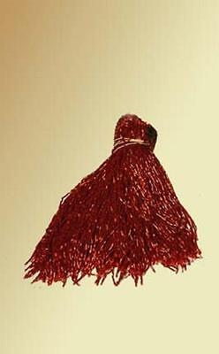 "DARK RED GLASS BEADED BELLY DANCE FRINGE 40"" x 4"""