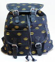 Dc Comics Batman Bat Man Dark Knight Logo Slouch Buckle Book Bag Backpack