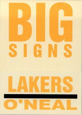 Nm-mt Basketball Cards Brave 2003-04 Fleer Platinum Big Signs #3 Shaquille O'neal