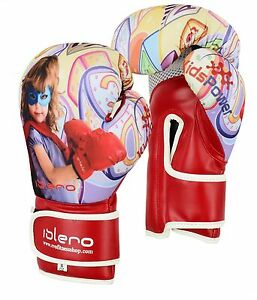 EVO-Kids-Boxing-Gloves-MMA-GEL-Punch-Bag-Muay-Thai-Martialart-Training-4oz-8Oz