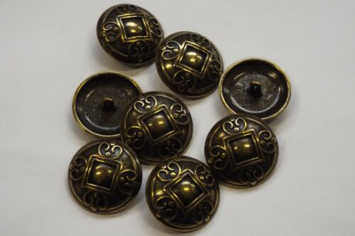 8pc 23mm Antique Gold Arts /& Craft Inspired Cardigan Knitwear Baby Button 3313