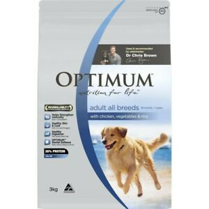 Optimum Chicken Rice With Vegetables Dry Dog Food 3kg