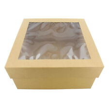 Spec101 Cake Boxes With Window 25 Pack 12 X 12 X 6 Inch Brown Bakery Boxes