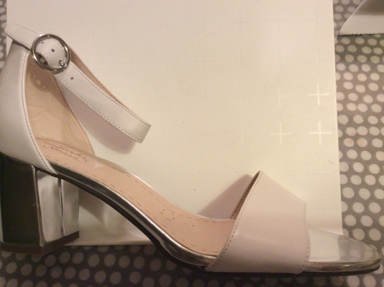 CLARKS WOMENS WHITE & SILVER LEATHER WEDDING CHRISTMAS PARTY SHOES UK SIZE 6 NEW