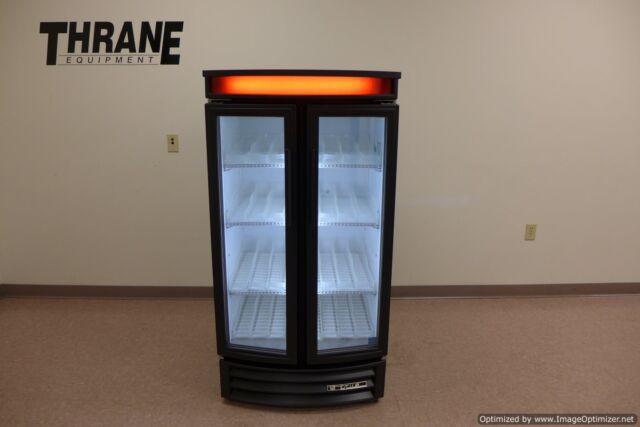 True GDM-14RF-LD LED Black Glass Pop Refrigerator Cooler Radius Front 2014