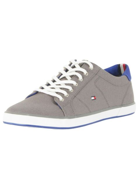 Flag Canvas Trainers, Grey
