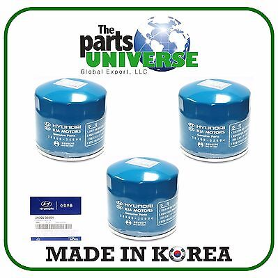 GENUINE Oil Filter 3pcs Fits 86-16 Hyundai Accent Elantra Sonata Kia Optima OEM