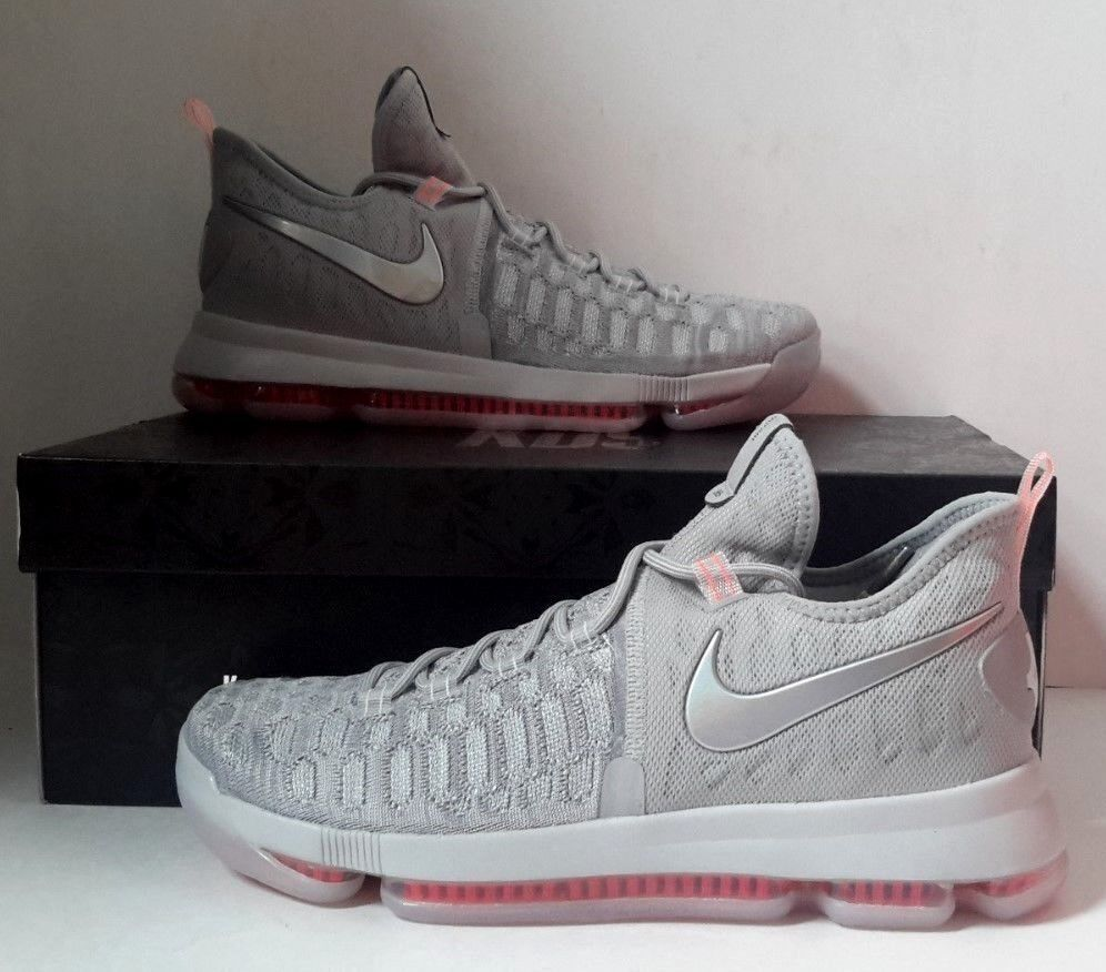 NEW Nike Zoom KD 9 LMTD Pre Heat Wolf Grey Sz 10 843396-090 Basketball Shoes DS Wild casual shoes