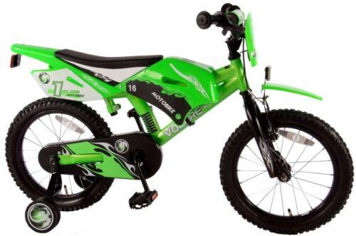 Kinderfahrad Jungen Motobike 16 Zoll 25,5 cm Jungen Rücktrittbremse Grü Volare