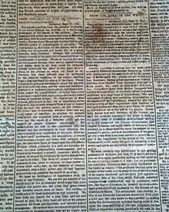 Rare-NEW-ORLEANS-LA-Louisiana-Deep-South-CONFEDERATE-Civil-War-1861-Newspaper