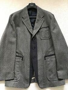 "Paul Smith MAINLINE Casual Grey Tweed Jacket size 42/44  p2p 22.5"""
