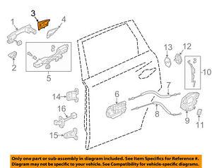 72643tz5a11 Acura Oem 14 16 Mdx Door Handle Cover Cap Right Rear Ebay