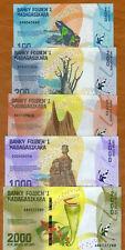 Madagascar 2017 set of 8 pcs 100+200+500+1000+2000+5000+10000+20000 ariary UNC