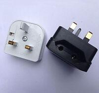 Euro Converter Adaptor EU 2 to 3 Pin Plug UK Travel Mains Plug Power Connections