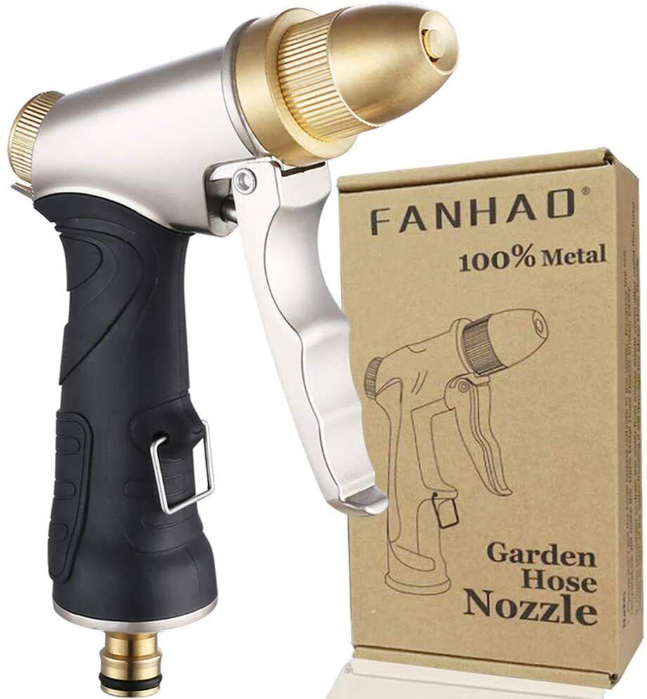 "FANHAO Garden Hose Spray Gun, 100% Heavy Duty Metal 3/4"" Thread"