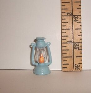 FASHION DOLL MINIATURE RE-MENT BLUE CAMPING CAMP LANTERN ACCESSORY