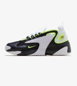 7f33b2204e79 New Nike Men s Zoom 2K Shoes (AO0269-004) Black   White-Bright Green ...