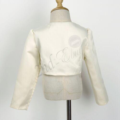 Jacket Shrug Girls Long Sleeve Cardigan Sweater Outwear Coat Bolero Dress Cover