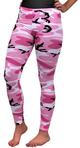 Womens-Camo-Pink-Camouflage-Military-Spandex-Leggings-Rothco-3188