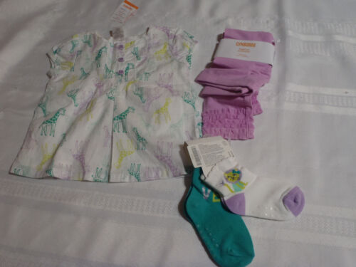 Gymboree Painting Pals 18-24 Month Orchid Tulle Hem Leggings Shirt Socks Outfit