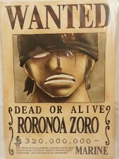 Official Mugiwara One Piece Wanted Bounty Poster Roronoa