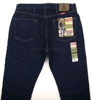 Wrangler Jeans Regular Fit Mens Size 36 X 30 Rinse (dark Blue) Straight Leg
