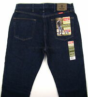 Wrangler Jeans Regular Fit Mens Size 36 X 30 Rinse (dark Blue) Straight Leg