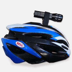 Casco-Da-Bici-Bicicletta-Supporto-Torcia-Ciclo-Di-Velcro-Porta-Luce-Morsetto