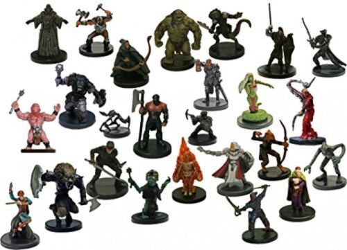 NICE LOT OF ASSORTED D&D MINIATURES  (30 DIFFERENT Figures & SEALED With CARDS!)