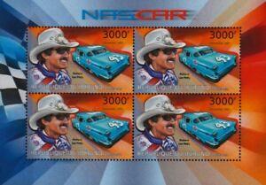 Capable Richard Petty (le Roi) #43 1957 Oldsmobile Nascar Course/voiture De Course Stamp Sheet