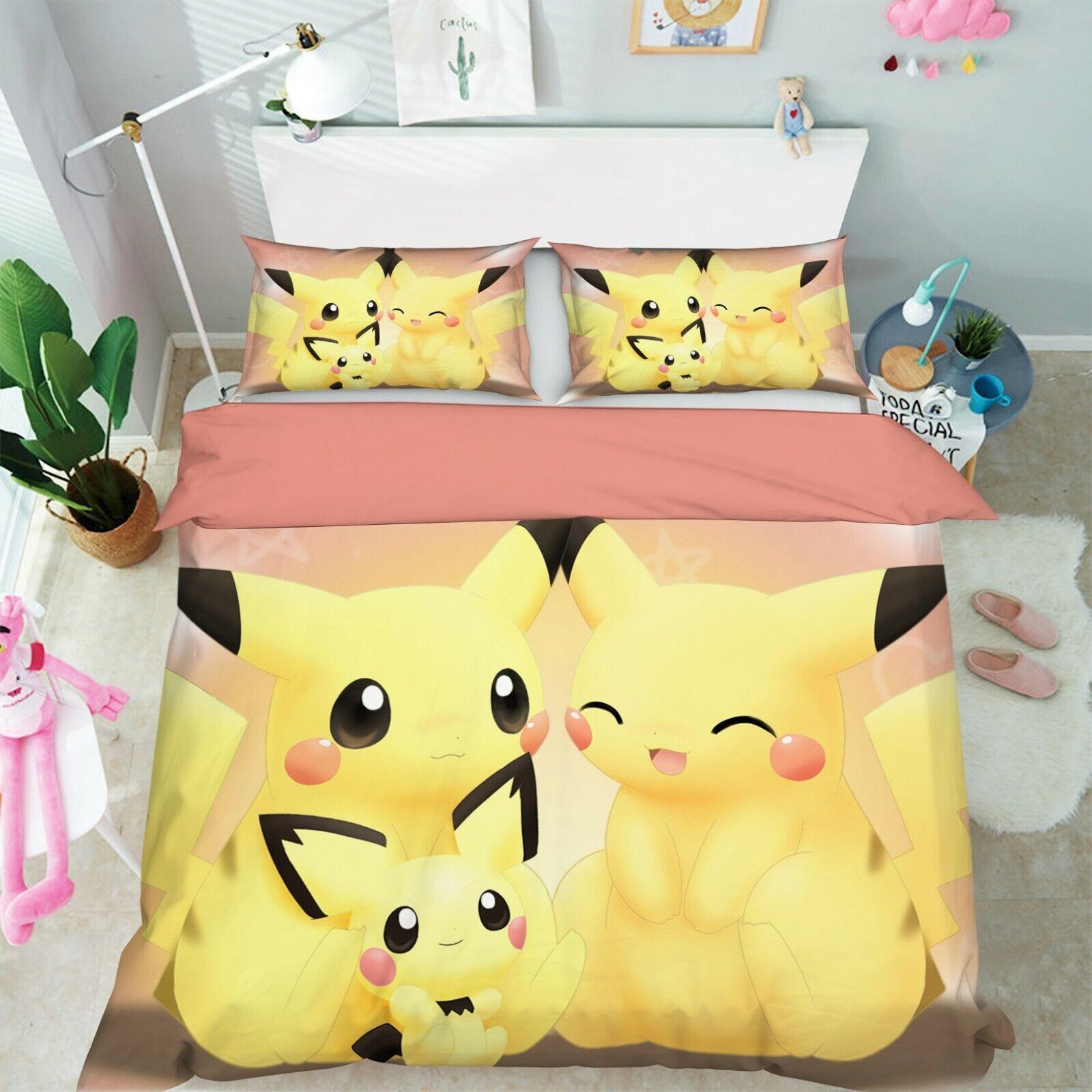 3D Duvet Cover for Pokemon 950 Japan Anime Bed Quilt Duvet Cover Double Zoe