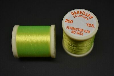 1 Spool #60 OLIVE Danville/'s FlyMaster No Wax 6//0 70 Denier 200 yards Fly Tying