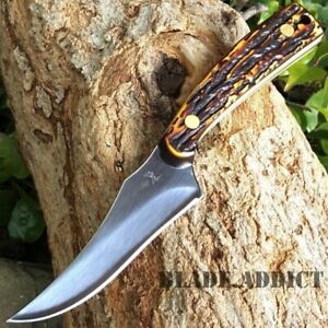 """7"""" TACTICAL SURVIVAL Skinning Stag KNIFE Hunting Skinner Camping Fixed Blade NEW"""