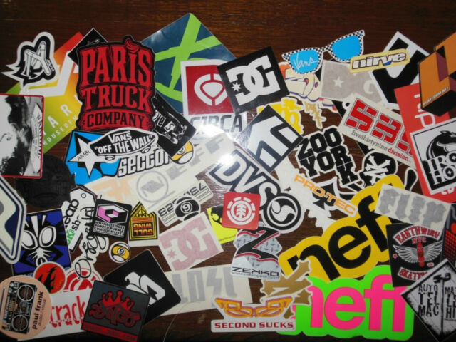 Skateboard Stickers Pack, skate stickers like DVS NeffKrew FallenElementFlipZero